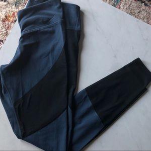 Blue and sheer black Nike leggings